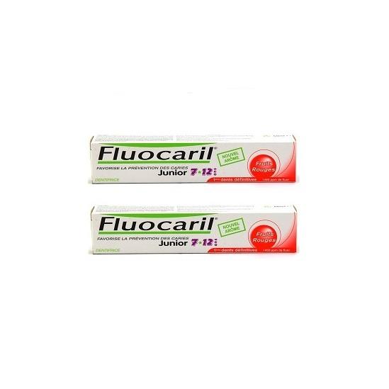 Fluocaril junior 7-12ans gel fruits rouges duo 50ml