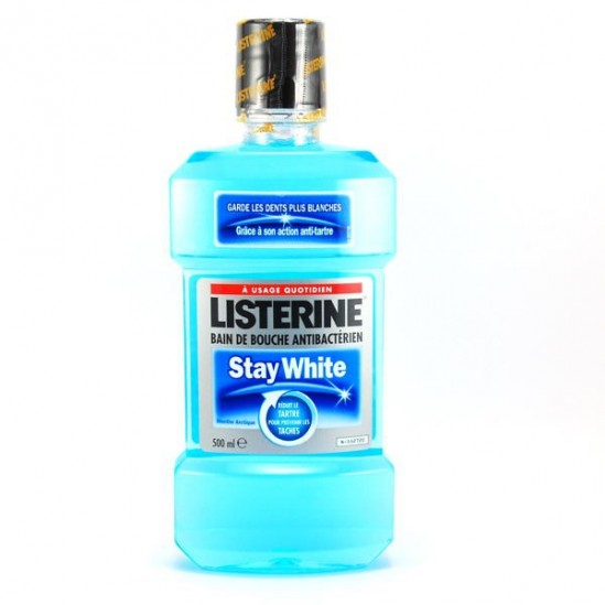 Listerine stay white bain de bouche 500ml