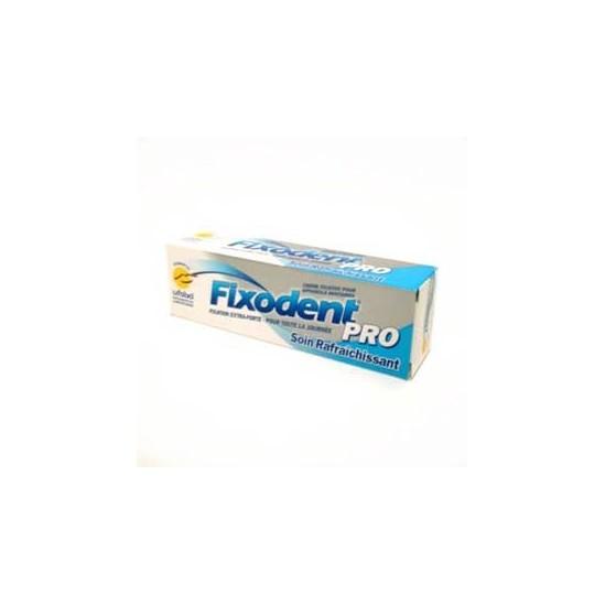 Fixodent pro soin rafraîchissant crème fixative appareils dentaires 40g