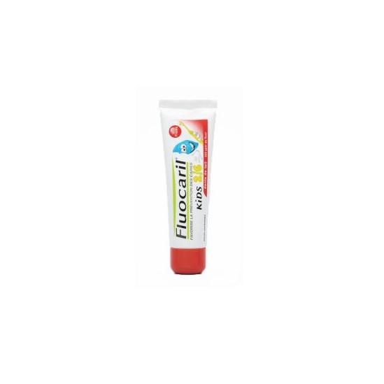 Fluocaril kids dentifrice enfant 2/6ans gel fraise 50ml