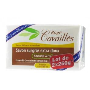 Rogé Cavailles Savon surgras Extra doux Amande verte 2 x 250g