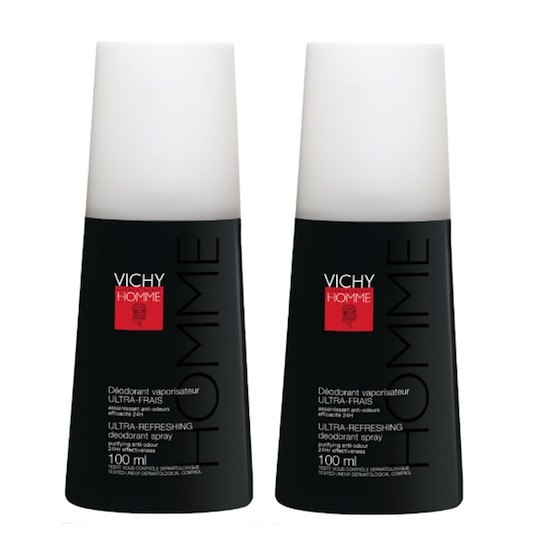Vichy déodorant homme ultra frais vaporisateur 100ml x2