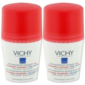 Vichy Détranspirant Intensif 72h Peau Sensible lot de 2 x 50ml