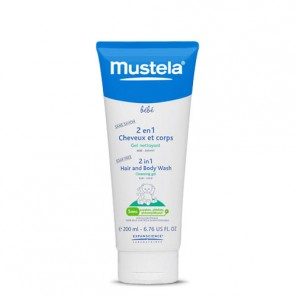 Mustela 2 en 1 cheveux et corps gel nettoyant 200ml