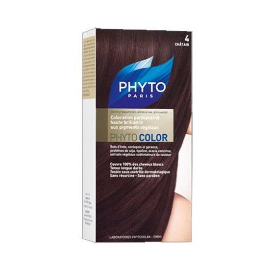 Phytocolor couleur soin 4 chatain kit