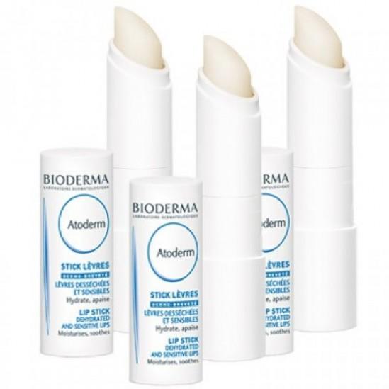 Bioderma atoderm stick lèvres 3 sticks x4g