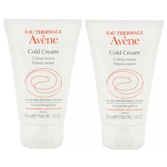 Avène cold cream crème mains 50ml x2